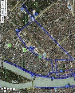 001 Parcours Marathon Budapest 04-10-2009