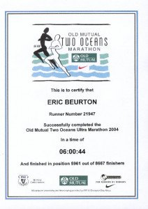 004 Two Ocean Marathon Avril 2004