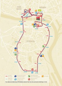 Carte Marathon de Bratislava 27 Mars 2011