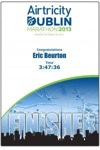 Diplôme bis Marathon-Dublin 28-10-2013