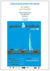 Diplôme Marathon de Genève 09 Mai 2010
