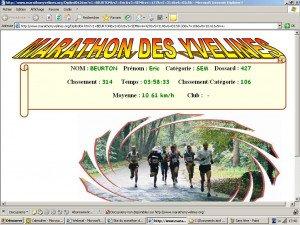 Diplôme Marathon des Yvelines 24-10-2004