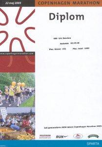 Marathon de Copenhague 22-05-2005