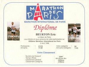 Marathon de Paris 05-04-1998