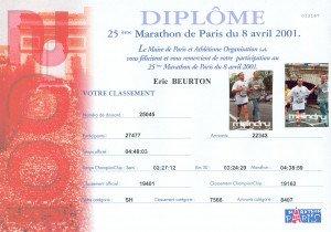 Marathon de Paris 08-04-2001
