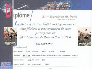 Marathon de Paris 09-04-2000