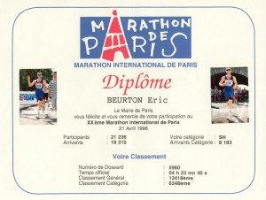 Marathon de Paris 21-04-1996