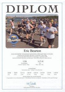 Marathon de Stockholm Diplôme 03-06-2006