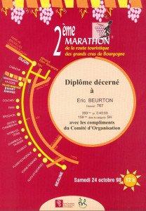 Marathon des grands crus de Bourgogne 24-10-1998