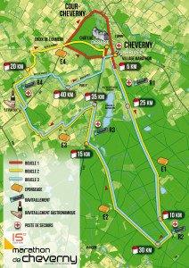 Parcours marathon de Cheverny avril 2016