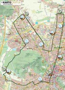 Parcours Marathon de Ljubljana 28 Octobre 2012