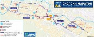 Parcours Marathon de Skopje 11-05-2014